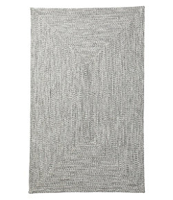 All-Weather Braided Runner, Concentric Pattern Rectangular