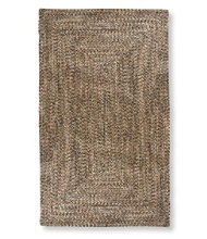All-Weather Braided Rug, Concentric Pattern Rectangular
