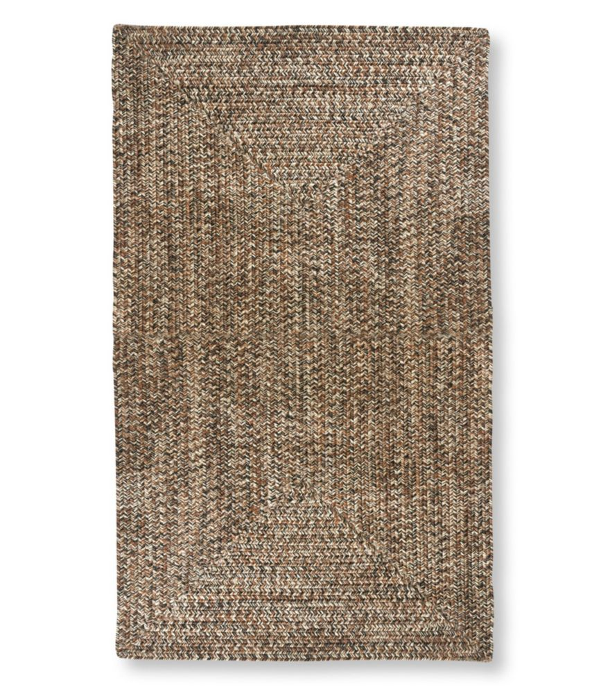 All Weather Braided Rug, Concentric Pattern Rectangular