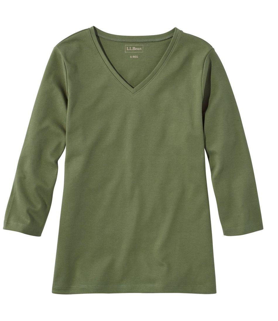 L.L.Bean V-Neck, Three-Quarter-Sleeve
