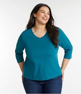 Women's L.L.Bean V-Neck, Three-Quarter-Sleeve