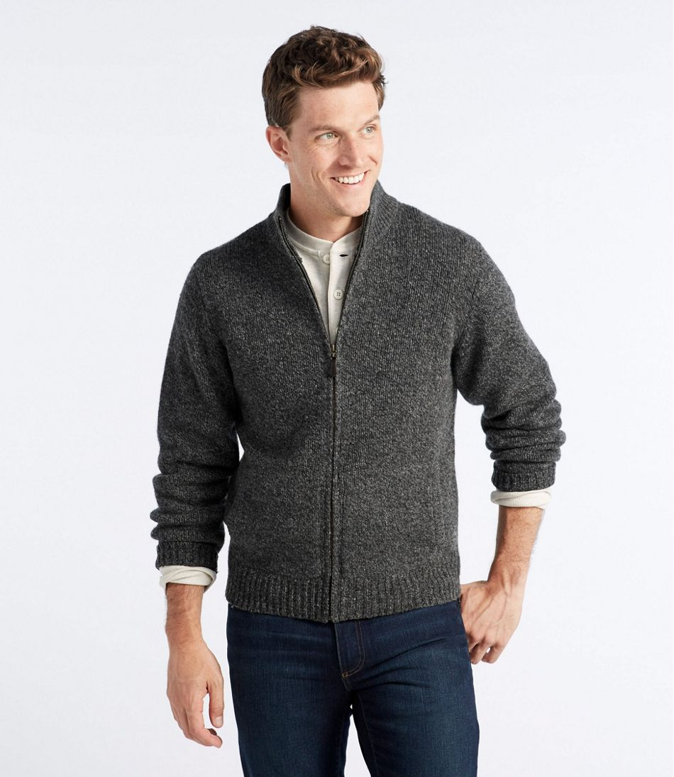 Llbean Classic Ragg Wool Sweater Full Zip