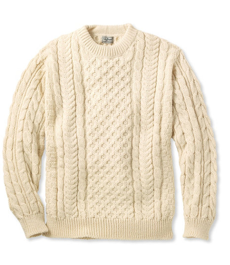 Men's Vintage Style Sweaters – 1920s to 1960s Heritage Sweater Irish Fishermans Crewneck $159.00 AT vintagedancer.com