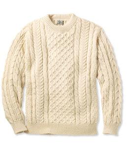 Men's Heritage Sweater, Irish Fisherman's Crewneck