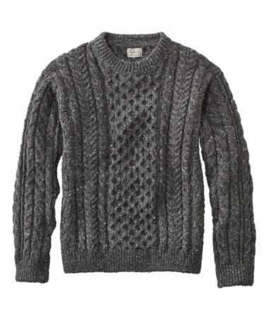 Men's Heritage Sweater, Irish Fisherman's Crewneck