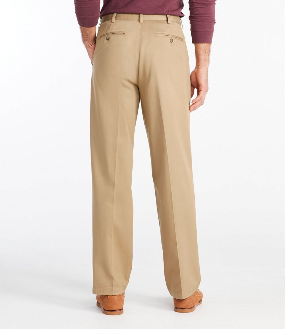 Men's Wrinkle-Free Double L® Chinos, Natural Fit Hidden Comfort Plain Front