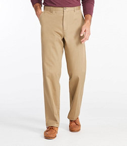 Wrinkle-Free Double L Chinos, Natural Fit Hidden Comfort Plain Front