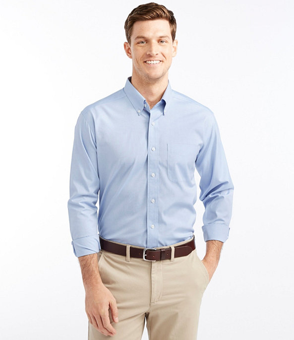 Wrinkle-Free Pinpoint Oxford Cloth Shirt, , large image number 1
