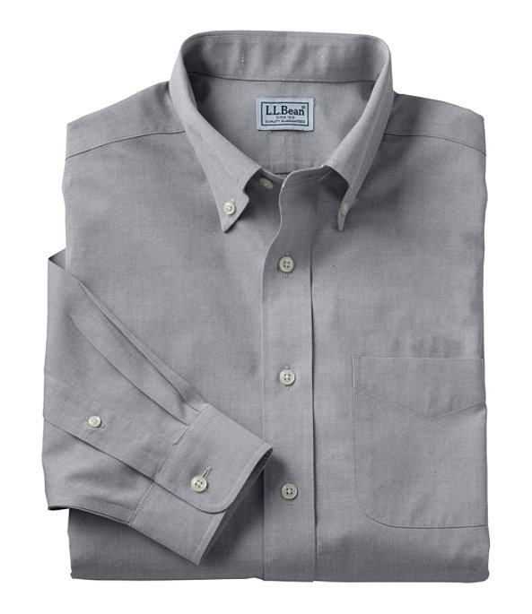 Wrinkle-Free Pinpoint Oxford Cloth Shirt, Charcoal, large image number 0