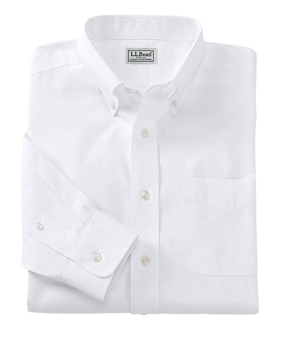 Wrinkle-Free Pinpoint Oxford Cloth Shirt, White, large image number 0