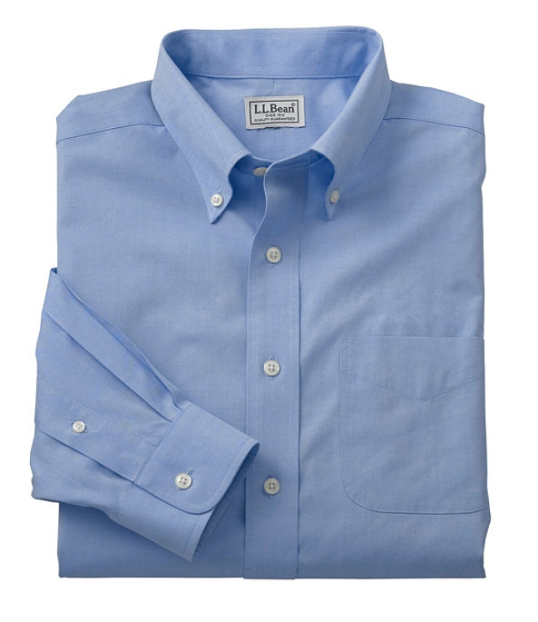 Wrinkle-Free Pinpoint Oxford Cloth Shirt, French Blue, large image number 0