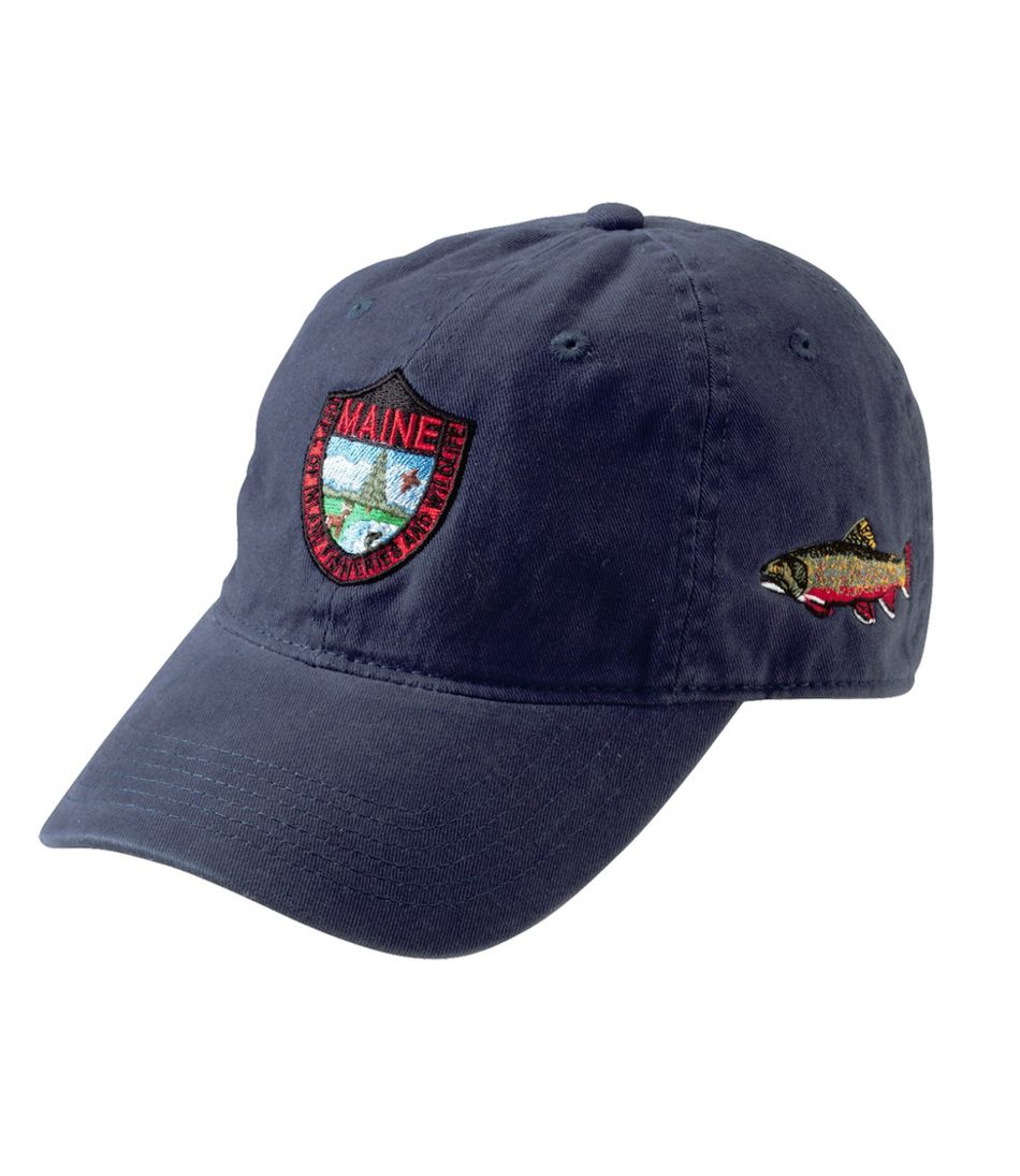 Adults' MIF&W Baseball Cap, Brook Trout