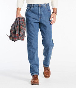 Men's Double L Jeans, Natural Fit Hidden Comfort