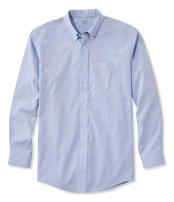 Wrinkle-Resistant Pinpoint Oxford Cloth Shirt, Neck Sizes, , largeimage number 3