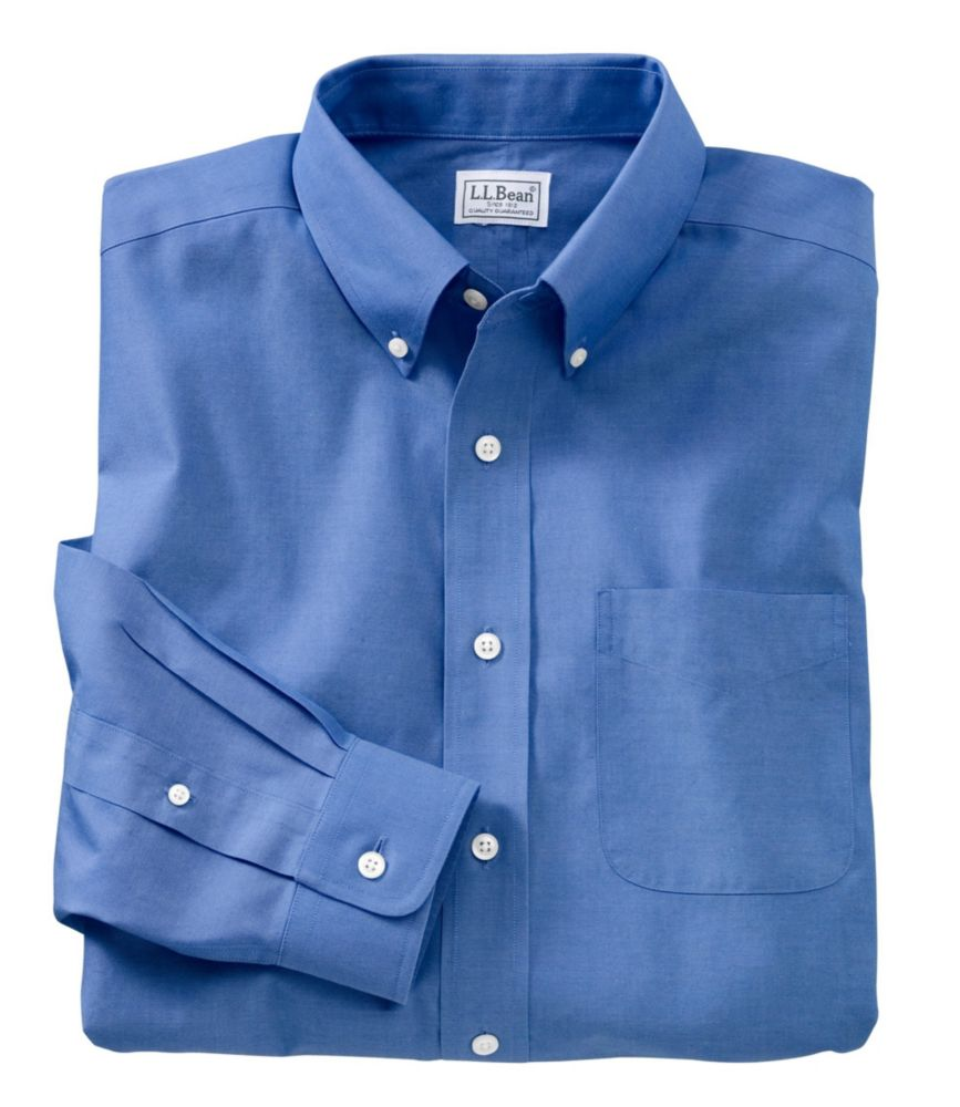 Wrinkle-Resistant Pinpoint Oxford Cloth Shirt, Neck Sizes