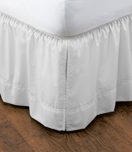 Wrinkle Free Bed Skirt 17 Drop Free Shipping At L L Bean