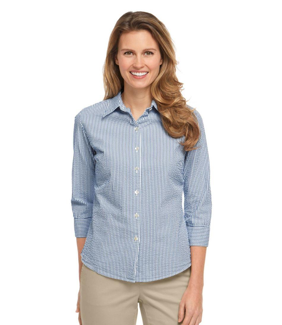 Women S Essential Seersucker Shirt