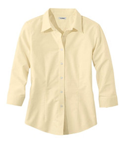 Women's Classic Oxford Cloth Shirt, Three-Quarter-Sleeve