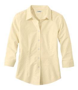 Women's Classic Oxford Cloth Shirt, Three-Quarter-Sleeve