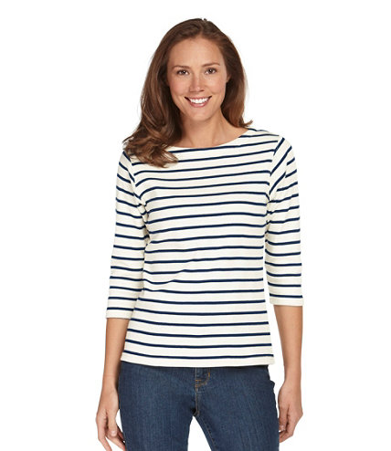 Women 39 S French Sailor 39 S Shirt Three Quarter Sleeve Boatneck