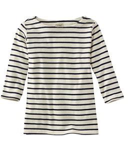 Women's French Sailor's Shirt, Three-Quarter-Sleeve Boatneck