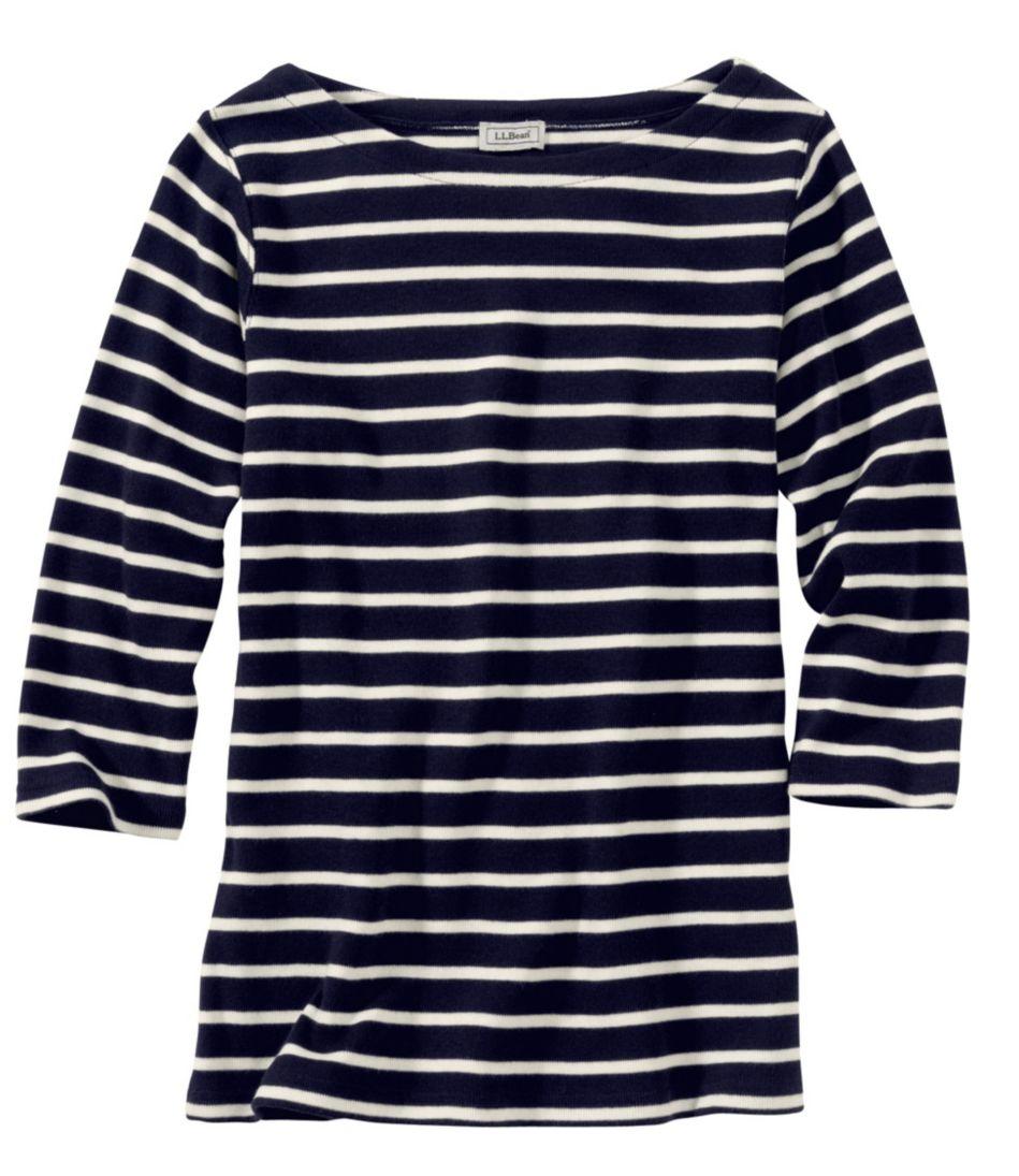 French Sailor's Shirt, Three-Quarter-Sleeve Boatneck