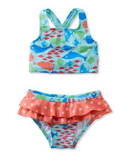 Toddler Girls' Sea Spray Swimsuit, Two-Piece