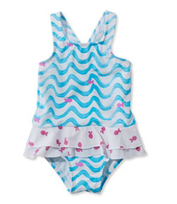 Infant and Toddler Girls' Sea Spray Swimsuit, One-Piece