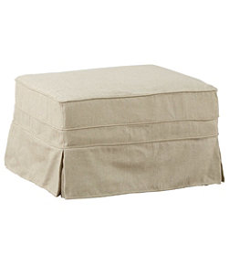 Pine Point Slipcovered Ottoman