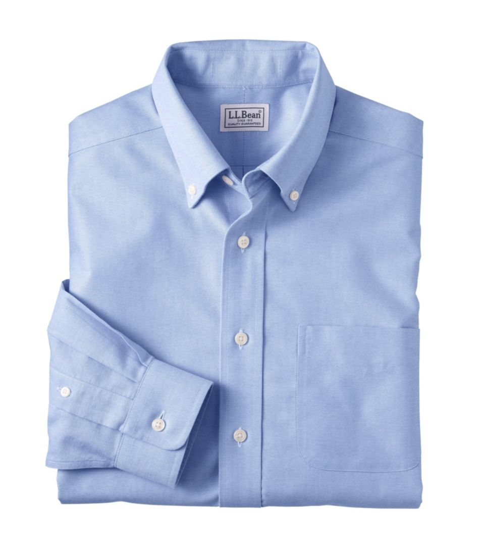 Wrinkle-Free Classic Oxford Cloth Shirt, Slightly Fitted