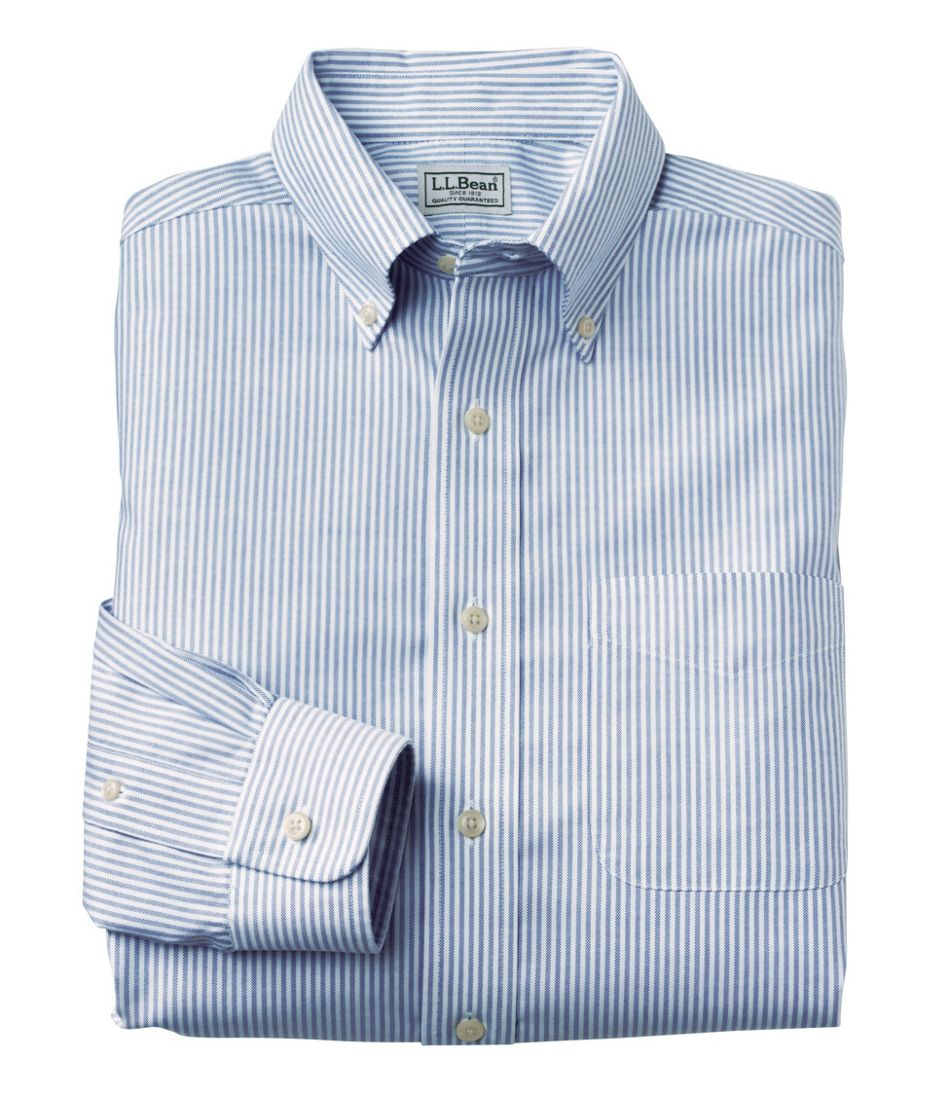 Mens Wrinkle Free Classic Oxford Cloth Shirt Slightly Fitted