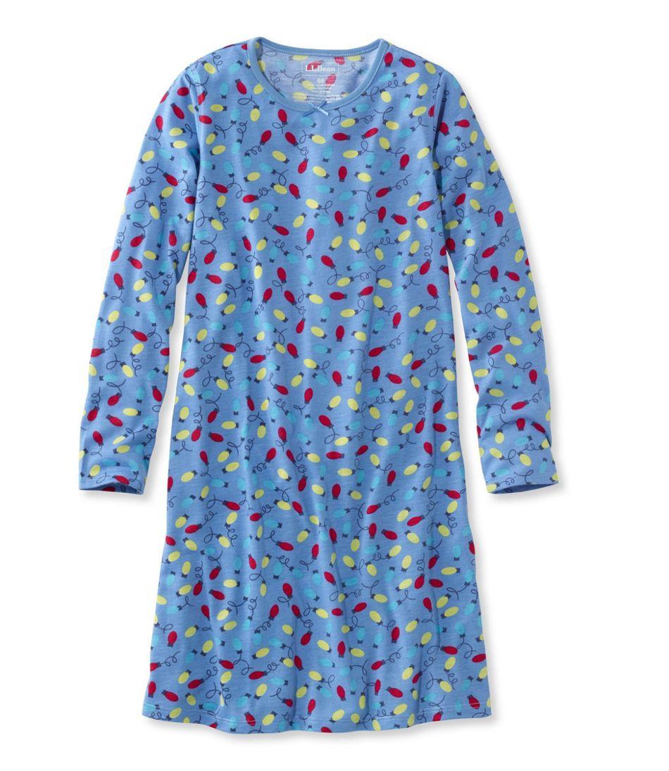 Girls\' Jersey-Knit Nightgown