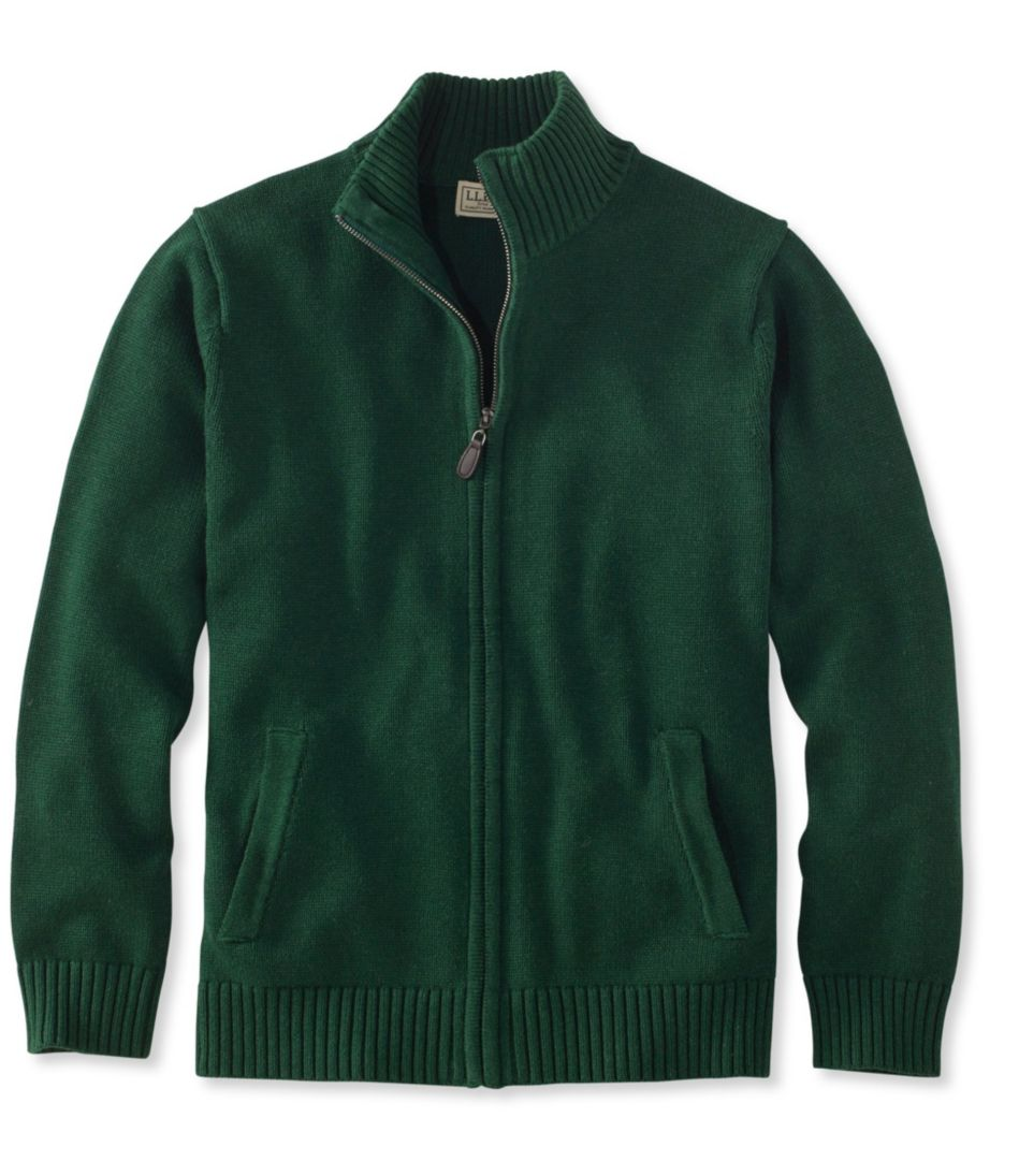 Double L® Cotton Sweater, Full-Zip