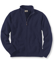 Double L Cotton Sweater, Full-Zip