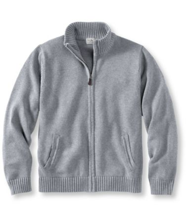 Double L® Cotton Sweater, Full-Zip