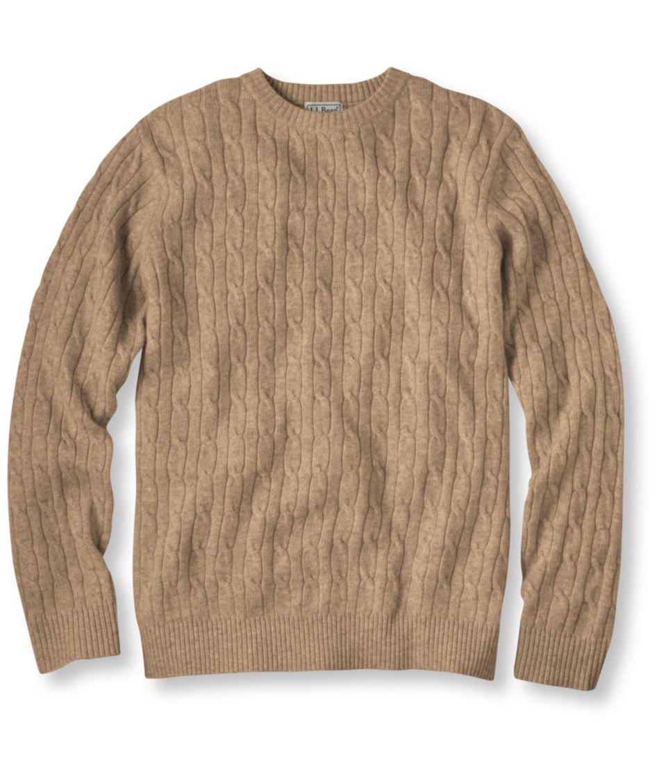 Cashmere Sweater, Crewneck Cable Knit