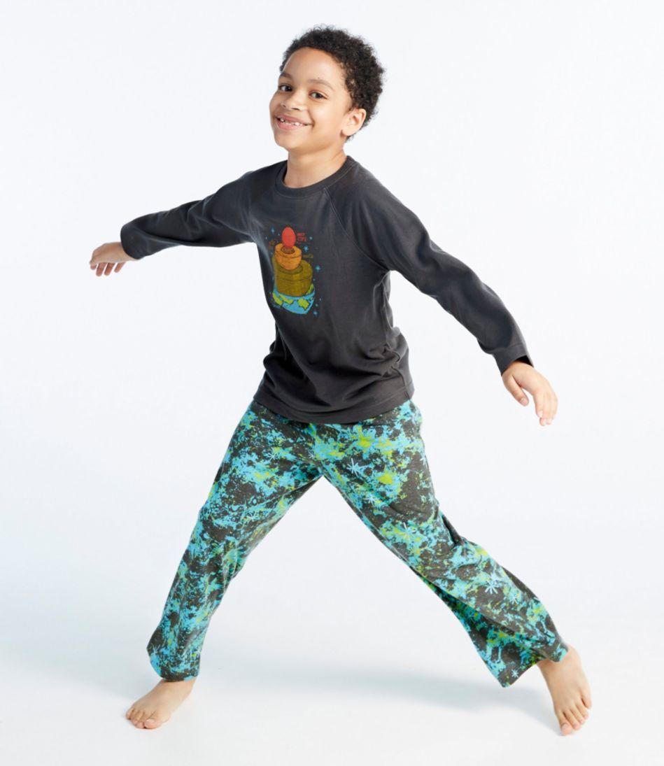Boys' Jersey-Knit PJs, Raglan-Sleeve
