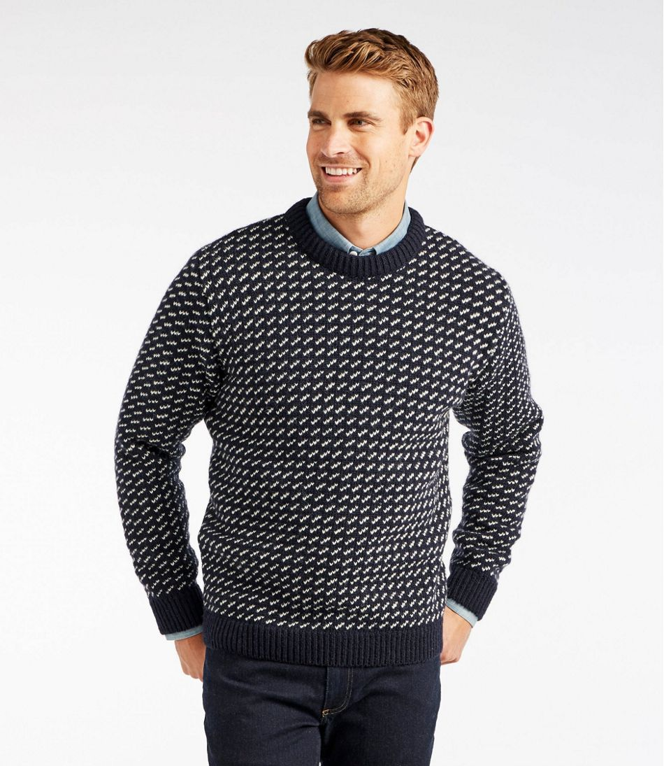 Men's Vintage Sweaters – 1920s to 1960s Retro Jumpers Heritage Sweater Norwegian Crewneck $169.00 AT vintagedancer.com
