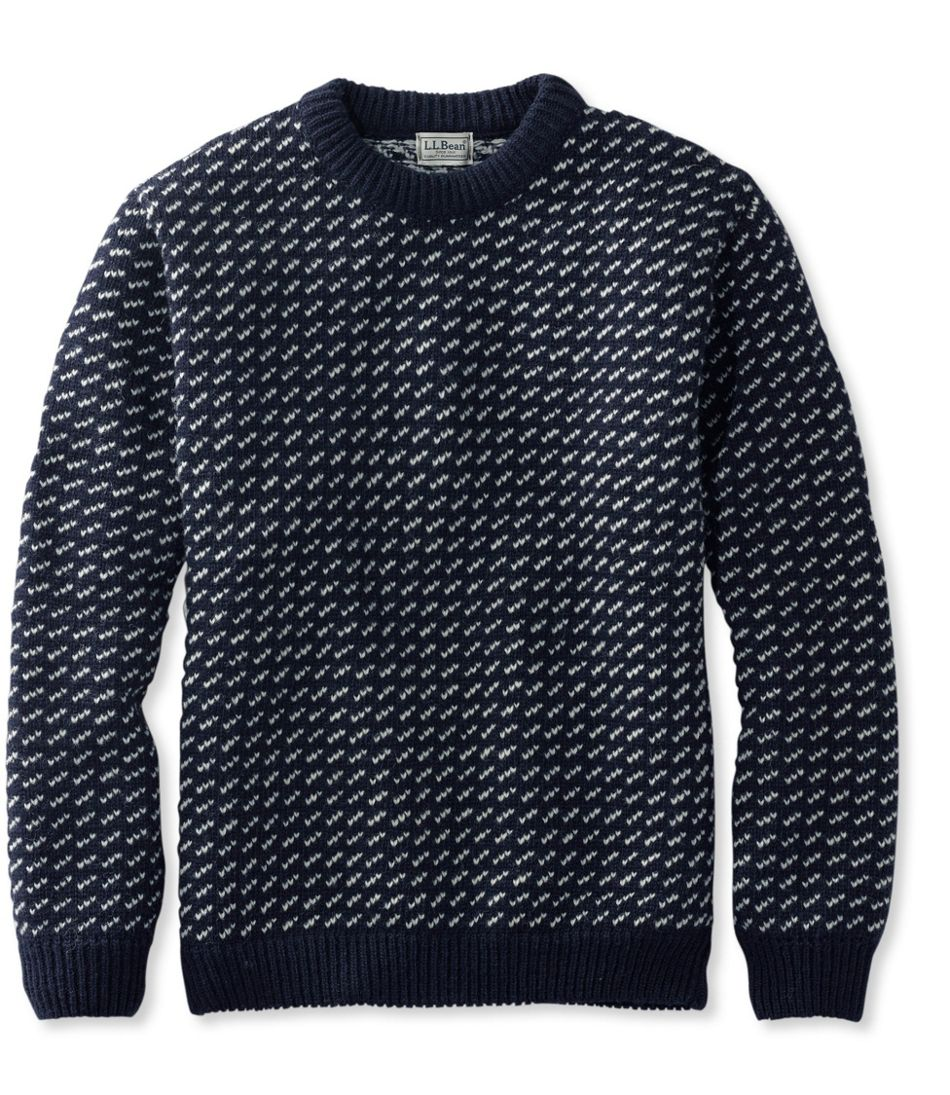 Men's Vintage Sweaters History Heritage Sweater Norwegian Crewneck $179.00 AT vintagedancer.com