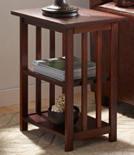 Mission Two-Shelf End Table