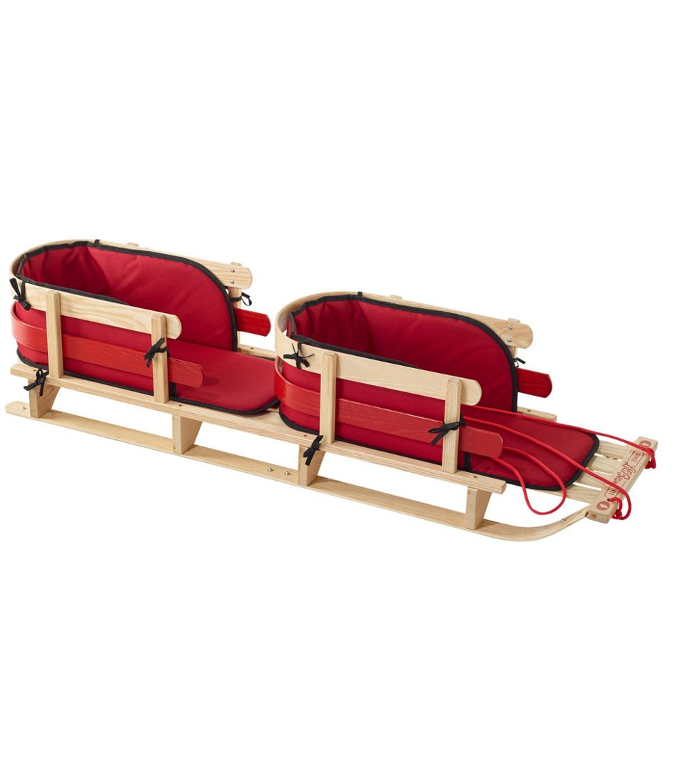 Kids' Pull Sled and Cushion Set, Tandem