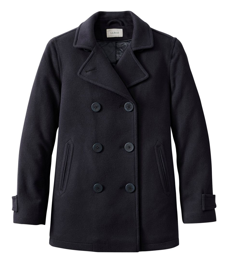 1940s Style Coats and Jackets for Sale Womens Classic Lambswool Peacoat $219.00 AT vintagedancer.com