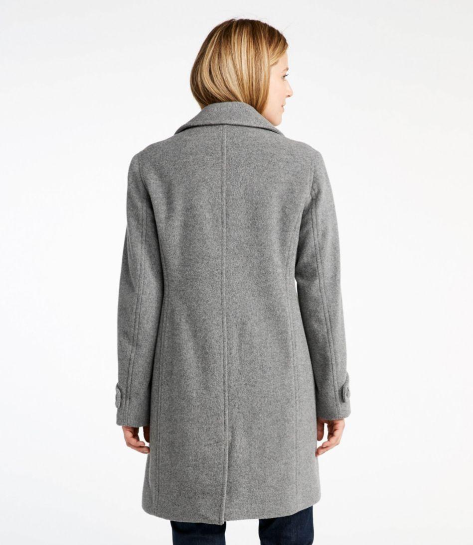 Classic Lambswool Polo Coat, Three-Quarter