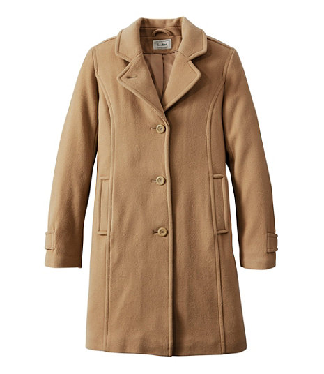 1960s Coats and Jackets Classic Lambswool Polo Coat Three-Quarter $209.00 AT vintagedancer.com