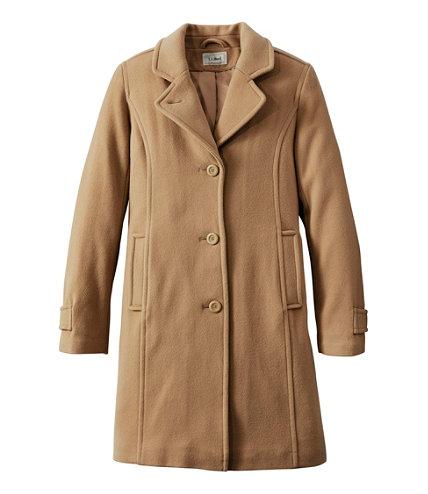 Women's Classic Lambswool Polo Coat, Three-Quarter | Free Shipping ...