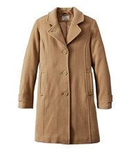 Classic Lambswool Polo Coat, Three-Quarter