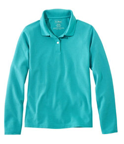 Women's Premium Double L Polo, Long-Sleeve