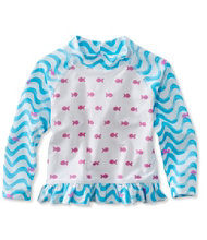 Toddler Girls' Sea Spray Ruffle Surf Shirt