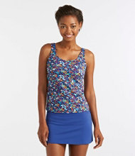 BeanSport Swimwear, Tankini Top Scoopneck Floral Print