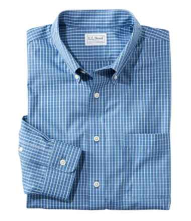 Men's Wrinkle-Free Pinpoint Oxford Cloth Shirt, Traditional Fit Tattersall